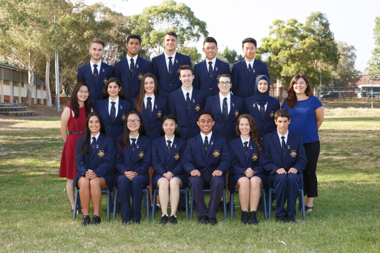 2018 student prefect group photo